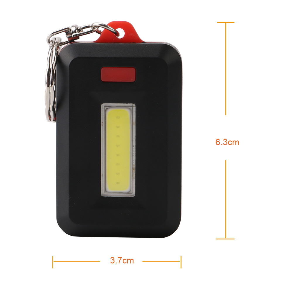 Portable Mini LED 3 Mode COB Lantern Keychain Flashlight Torch Night Light For Outdoor Camping Lighting Hiking Keychain Nightlight Lamp