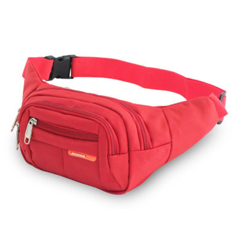 2018 Venda Quente 7 Cores Da Cintura Saco Ocasional Unisex Fanny Packs Lona Simples Ao Ar Livre Cinto de Viagem Saco Peito Pequeno Corpo Cruz Sacos de Ombro