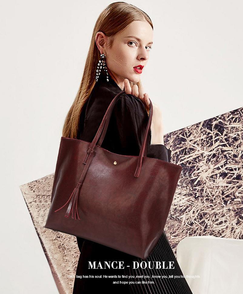 Nevenka Leather Handbag Women Casual Totes Female Shopper Ladies Shopping Bags Large Capacity Bags Vintage Bag for Women 201807