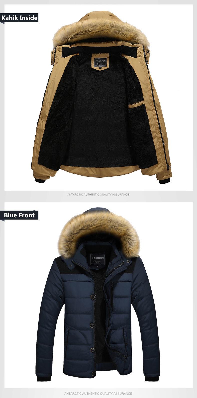 W102 2016 Mens Winter Jackets Coats Outwear Warm Down Jacket Thick Outdoor Hoodie Fox Fur Men\`s Parka Plus Size 4XL Famous Brand (9)