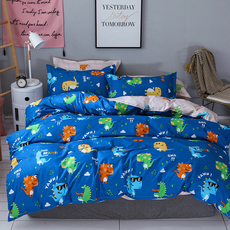 Dinosaur Valley Bed Linens Bedspread Quilt Cover Flat Bed Sheet Pillow Cover Bedding Duvet Cover Set Twin Full Queen King Size