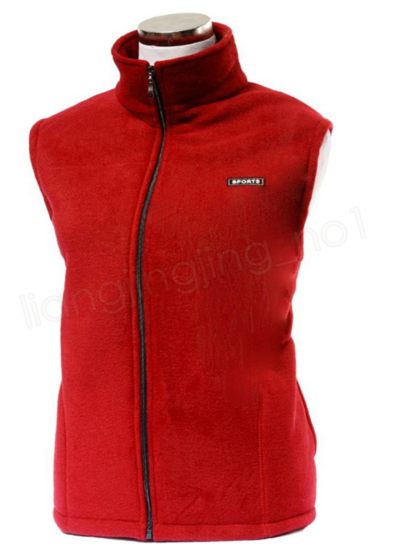 Chaquetas de lana sin mangas Sherpa Pullover mujeres Cardigan sólido Chaleco de polar Polar Chaqueta cremallera grueso suéter chaleco al aire libre GGA1009