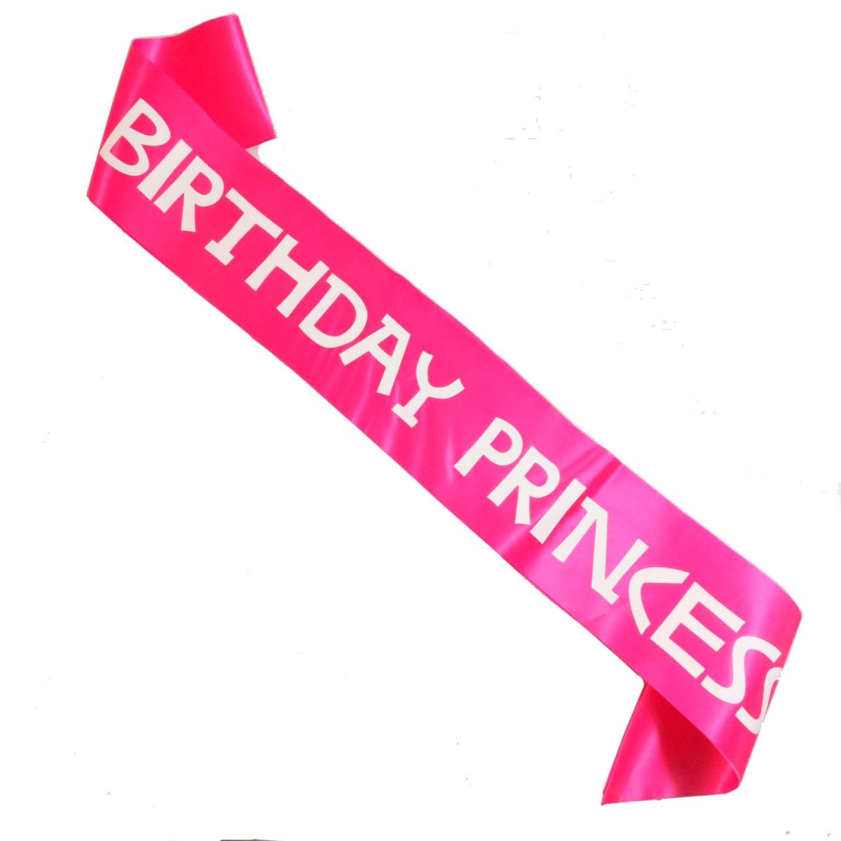 12 adet Doğum Günü Prenses kanat beyaz veya siyah baskı yeni tasarım 5 renkler saten kurdele kız prenses doğum günü partisi yanadır
