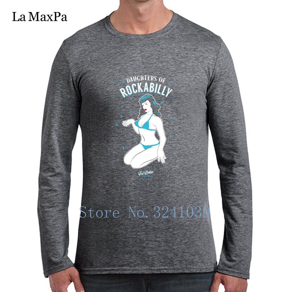 Filles de base de Rockabilly Tee Shirts pour hommes Cool Graphic Hommes T-Shirt Printemps manches longues S-3xl Unisexe T Shirt