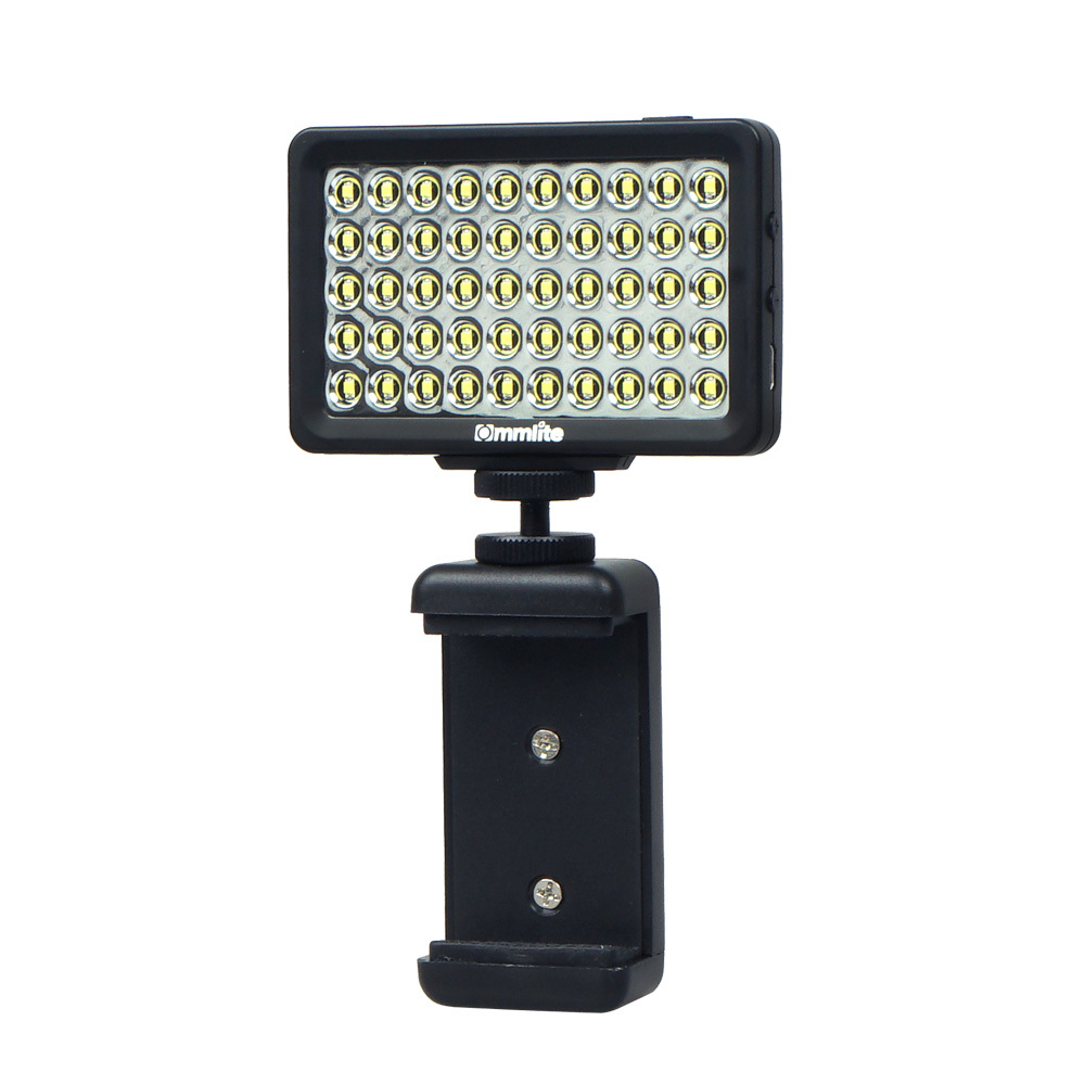 Luce video a LED CM-L50 Dimmerabile 50LED Videoproiettore ad altissima potenza video portatile multifunzionale fotocamera e smartphone