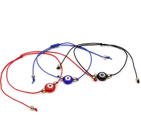 20pcs/lot Lucky String Evil Eye Lucky Red Cord Adjustable Bracelet DIY Jewelry