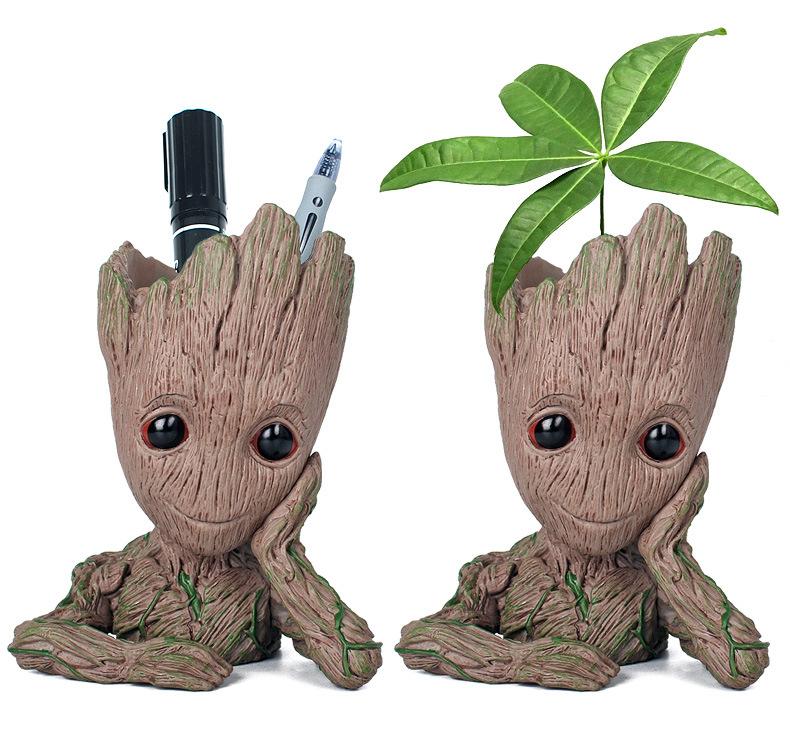 Crianças Brinquedos Galáctica Guarda Flowerpot Árvore Personalidade Guru Boneca Groot Ação Digital Modelo Bonito Toy Pen Titular BB Boneca Modelo Toy