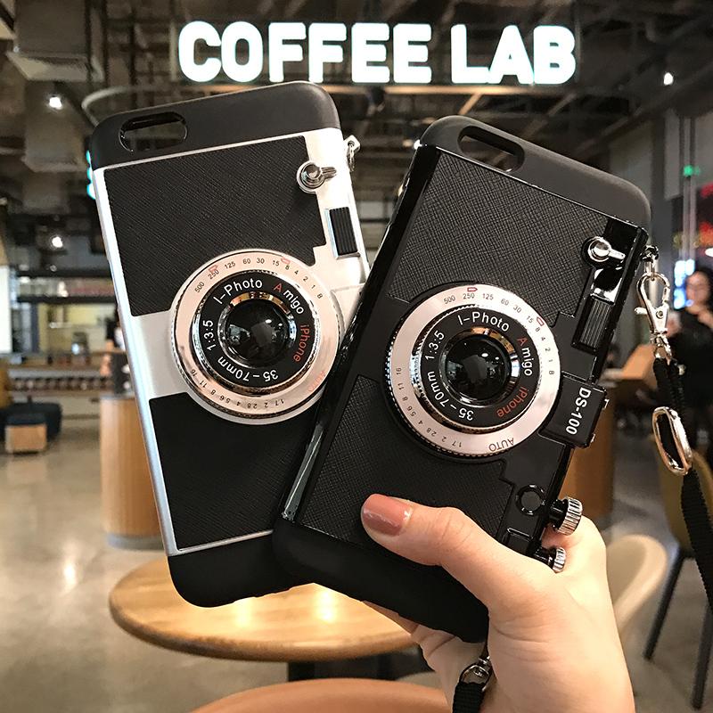 3D Camera Phone Cases For Iphone 8 Plus 7 6 6S Plus Fundas Back ...