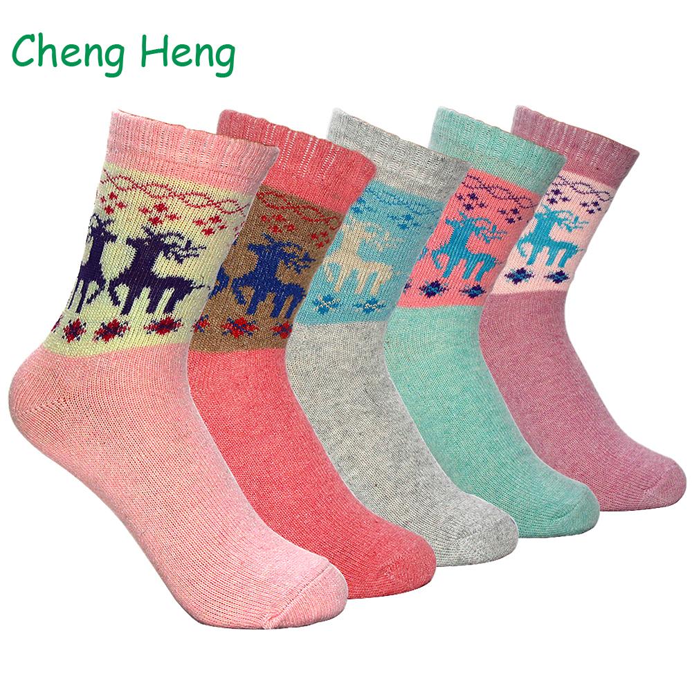 Fraun Winter Socken Christmas Gift Warm Wool Sock Cute Santa Claus Comfortable.