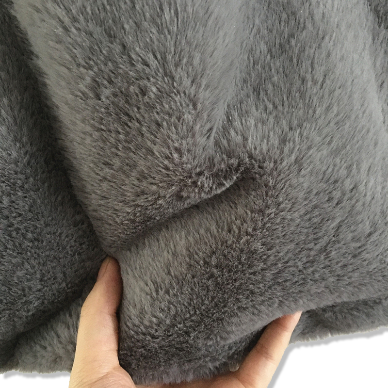 Original Handmade Black Gray Plush Faux Rabbit Hair Vest Bag Women Luxury Fur Hands Bags High Quality Female Shopping Handbag