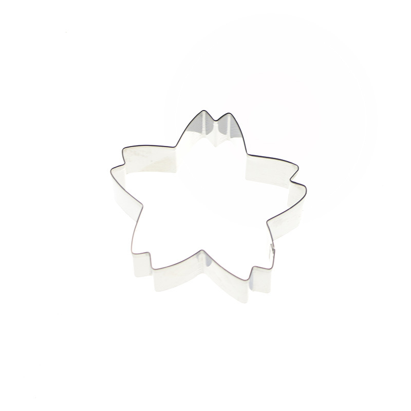 Stainless Steel Cherry Cake Cookie Cutter Mold 3D Biscuit Fondant Cake Confectionery Mold DIY Wedding Baking Tools