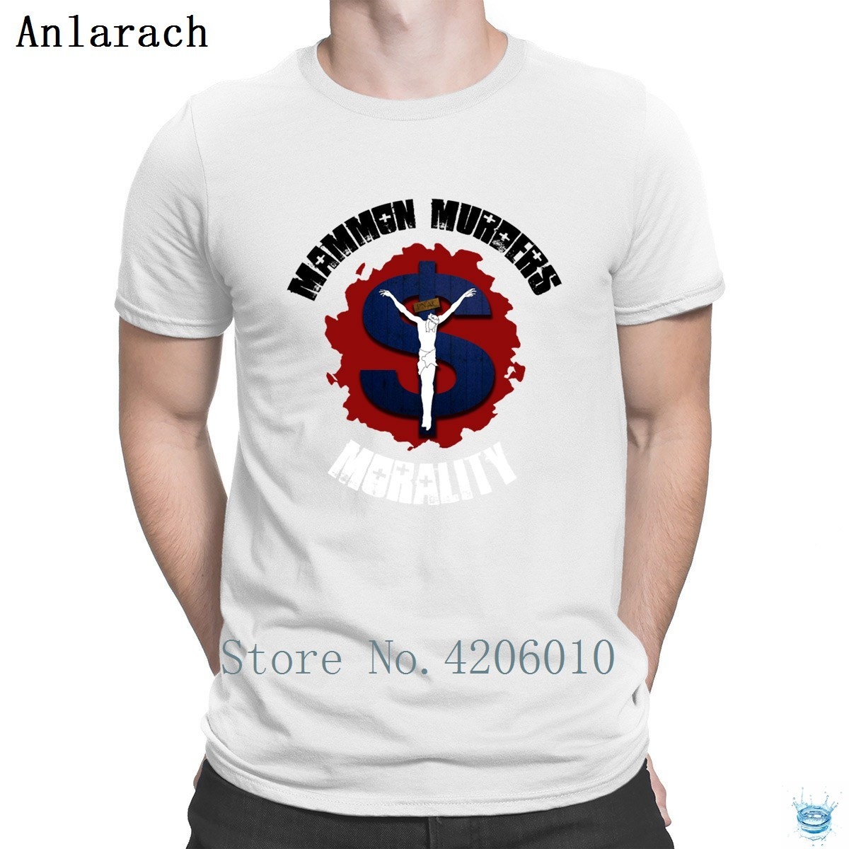 Mammon Murders Morality camiseta popular diseño de calidad superior peculiar camiseta para hombres luz del sol 100% algodón Anlarach Fitness ropa