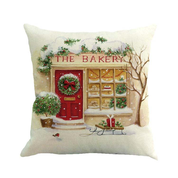 Taie d/'oreiller Série Joyeux Noël Housse de Coussin Arbre de Noël Bonhomme de Neige Impression
