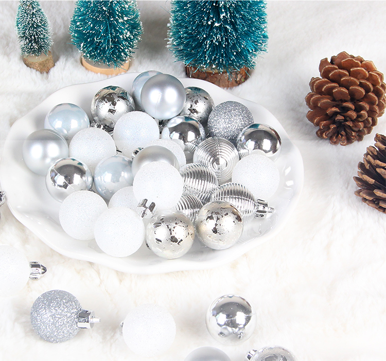 13 inhoo 49pcs Christmas Tree Ornaments Polystyrene Plastic 3cm Decor Balls Baubles Xmas Party Hanging Ball for Home Gifts 2019