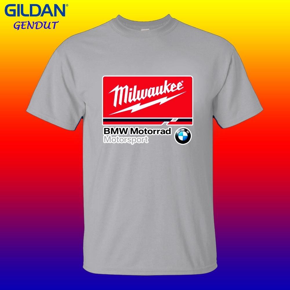 New-Mens-Tshirt-Milwaukee-BMW-logo-Motorrad-Sporter-T-shirt-gildan-sz-S-XXL