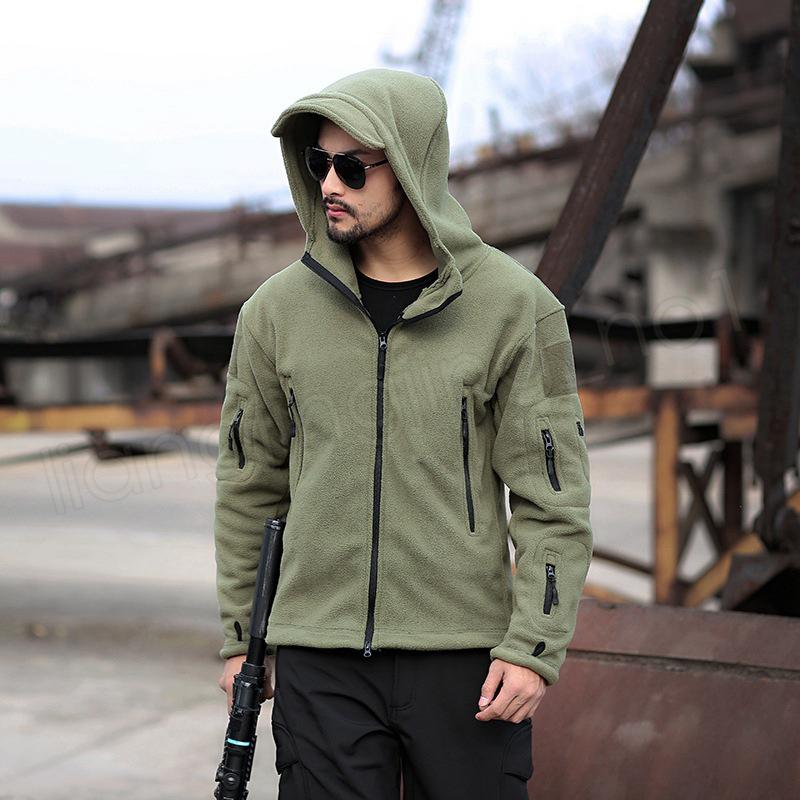 Hiver Militaire Tactique Manteau En Plein Air Softshell Polaire Veste Hommes Armée Polartec Sportswear Vêtements Chaud Casual Hoodie Vêtements À La Maison GGA1028