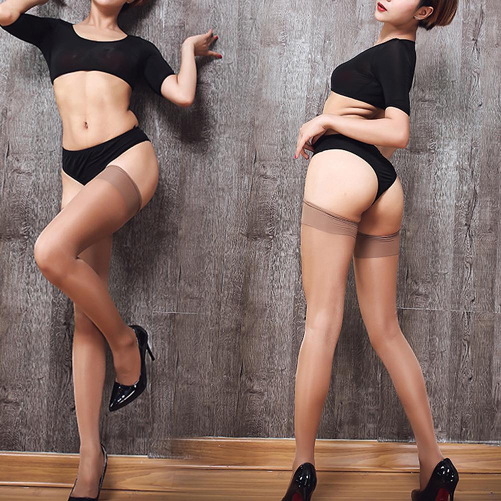 Medias de nylon atractivas Medias altas para el muslo Verano de las mujeres Sobre la rodilla Calcetines altos Más la media de tamaño 15D Estirar las medias delgadas negras Y1890305