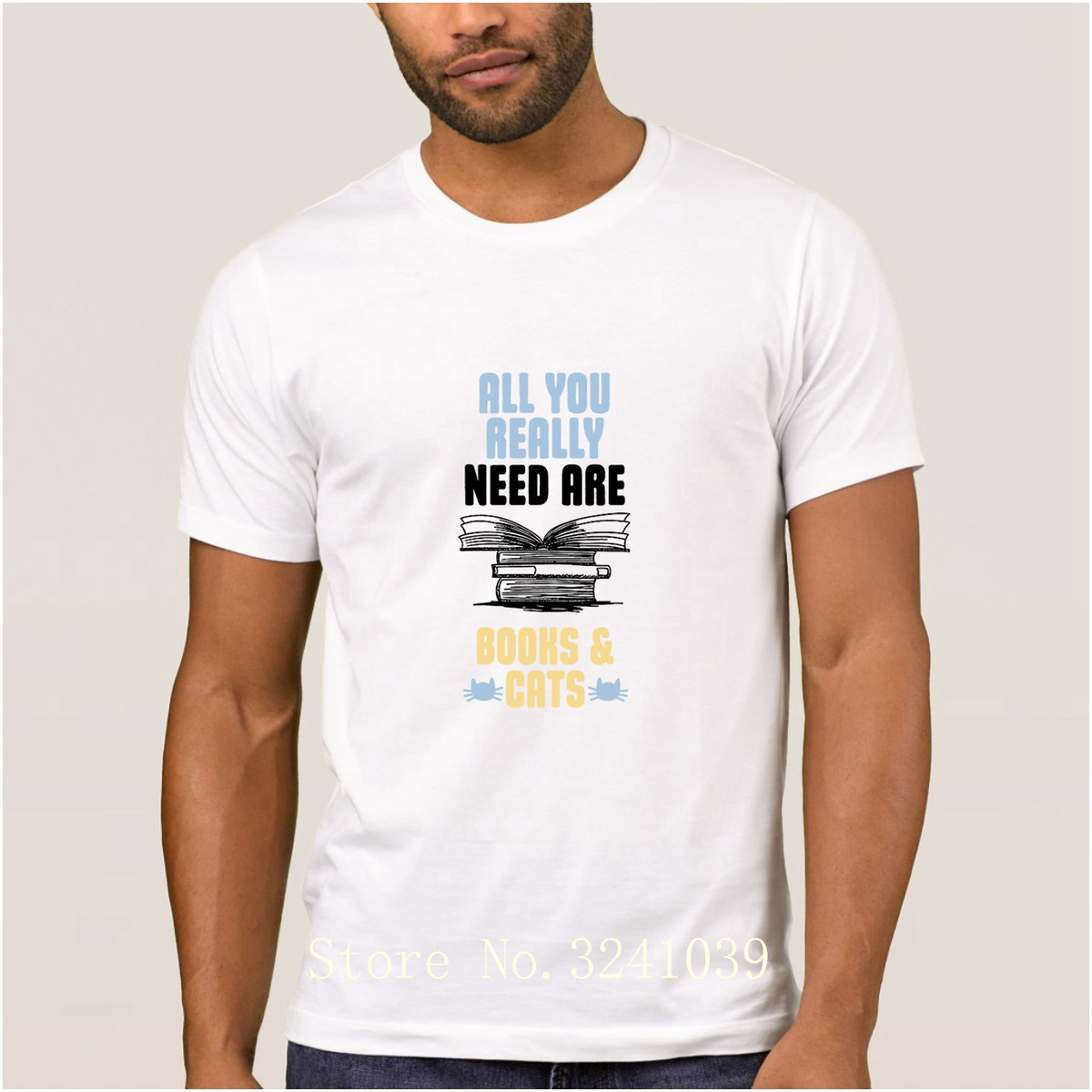 La Maxpa Casual all you really need are books amp catseed t shirt summer Graphic t-shirt men large Euro Size S-3xl men's tshirt