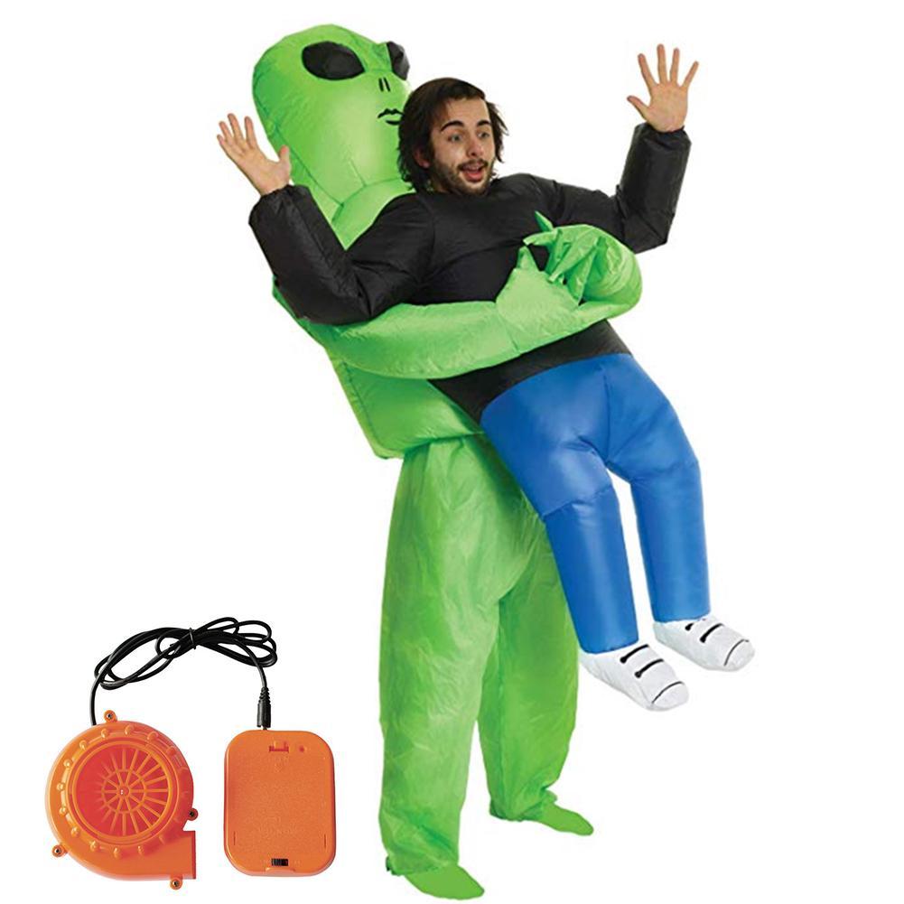 Frankenstein Costume Women Scary Halloween Fancy Dress Inflatable Blow Up Suit