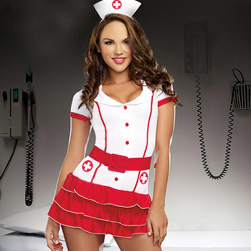 Naughty Nurse Costume For Women Nurse & Doctor Fancy Party Dress Sexy Hospital Hottie Red Nurse Uniform Outfits Cosplay (3)