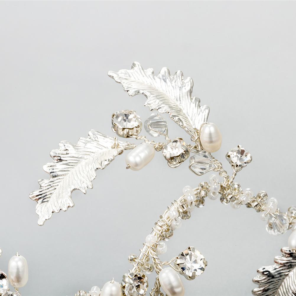 Bridal Headband Pearl Crystal Hair decorations Band for women Headpiece Headwear Wedding Accessories Size S C18110901