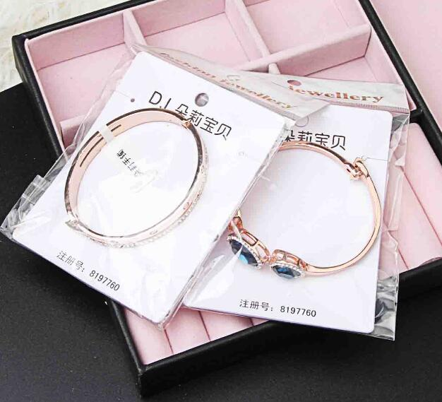 mix 10 style plated Gold silver delicate Luxurious crystal gemstone Pearl Opal Bangle Bracelet Girl / Madam Hard body Bracelet