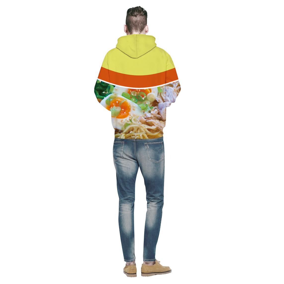 Novos Casais de Moda Das Mulheres Dos Homens Unisex HD ramen carne / macarrão de Galinha Food 3D Impressão Hoodies Camisola Moletom Jaqueta Pullover Top S-3XL T52