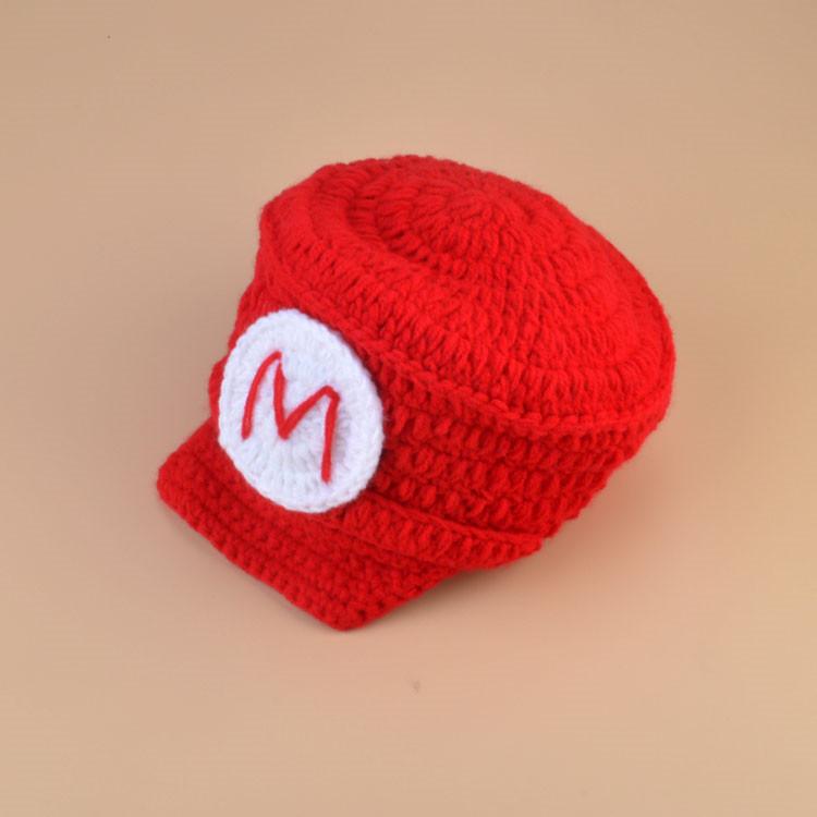 Super Mario Inspired Crochet HatDiaper Cover Set Crochet Baby Clothes Recién nacido Bebé Crochet Photo Props