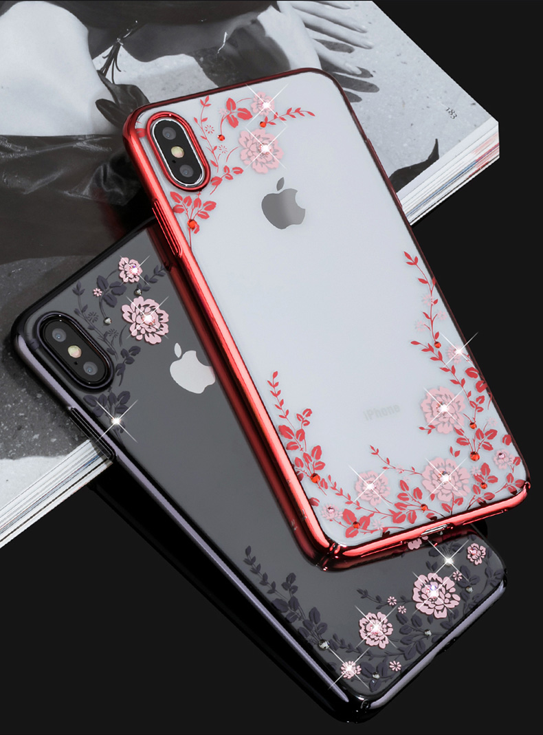 KINGXBAR Case for iPhone Xs Case Gorgeous for iPhone Xs Max Cover Luxury for iPhoneXs Cover Transparent Crystals from Swarovski (17)