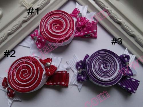 Candy Ribbon Sculpture Hair Cllip_conew1