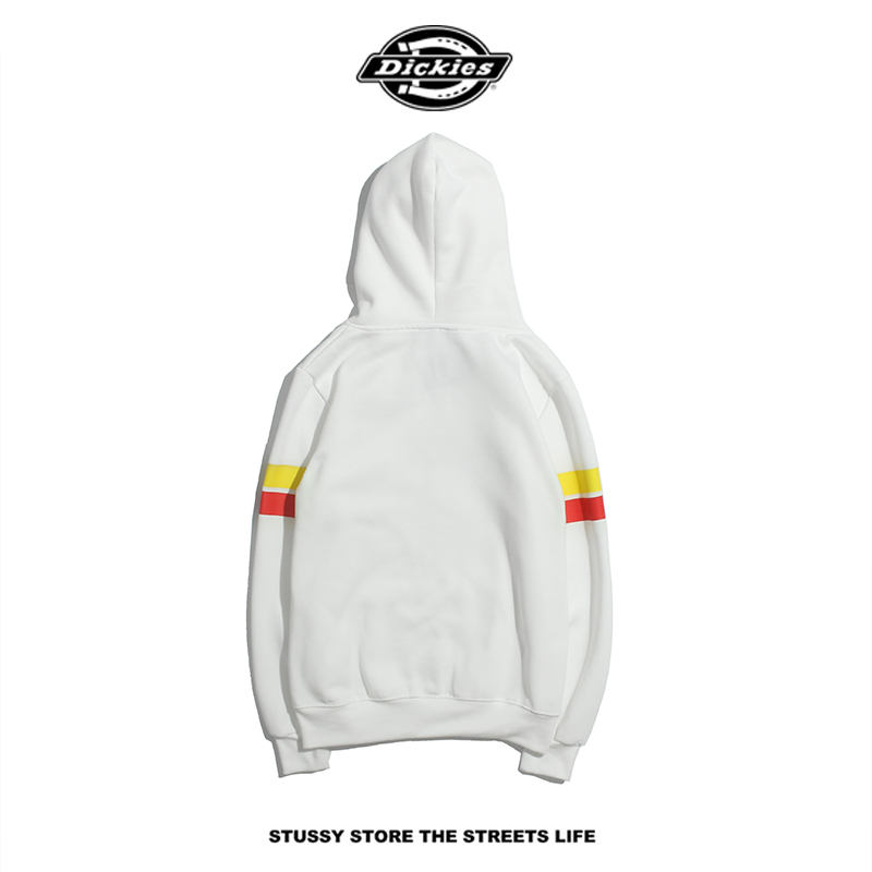 Hot Sale Mens Hoodies Sleeve Striped Letters Hooded Plus Velvet Sweater Designer Clothing for Men