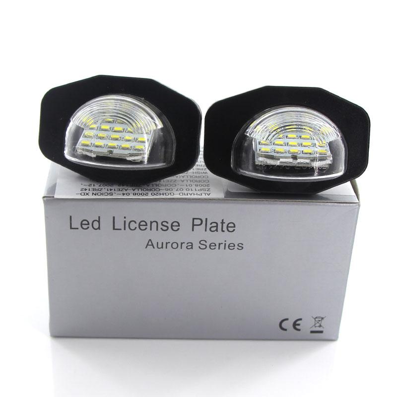 2x Toyota Urban Cruiser Bright Xenon White LED Number Plate Upgrade Light Bulbs