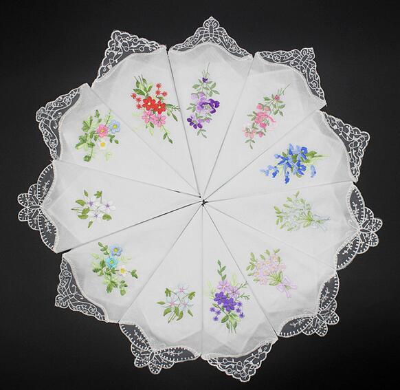 Señora pañuelo pañuelo pañuelos pañuelos blanco 10 unidades de 30 x 30 cm