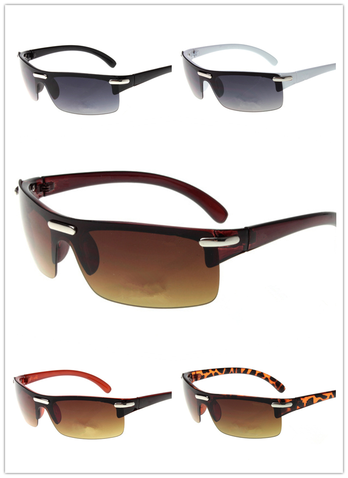 Brand designer half frame Fashion Sunglasses Wholesale For Men and Women cycling or fishing Sun glasses With case and box by drop shipping