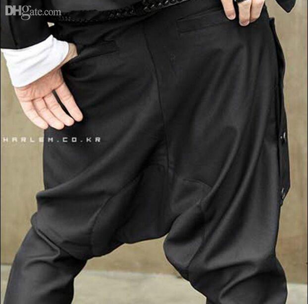 En gros-2016 Nouvelle arrivée vêtements pour hommes nouveauté hommes sarouel costume décalé personnalité de la publicité publicité costume Metrosexual pantalon décontracté