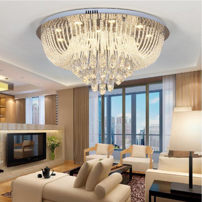 Großhandel Neue Runde Wohnzimmer Led Kristall Deckenleuchte Vorhang Lampe  Schlafzimmer Esszimmer Lichter Von Dh532738711, $488.45 Auf De.Dhgate.Com |  ...