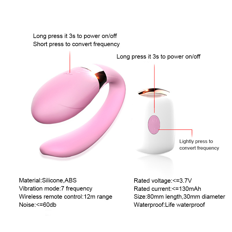 Strapon Dildo Vibrators 7 Speed Wireless Remote Control G Spot Clitoris Stimulator U Type Vibe Adult Sex Toy Product For Couples Y1893001