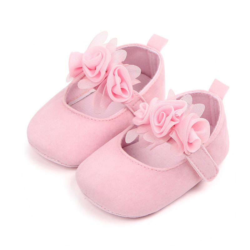 Infant Newborn Soft Sweet Mary Jane Baby Shoes Kids Wedding Party Dress Footwear Children Princess First Walker Baby Girl Shoes