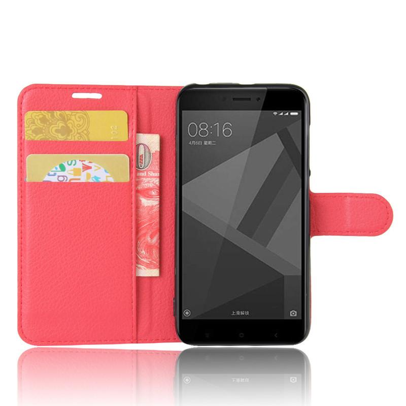 For Xiomi Xiaomi Redmi 4X Case 5.0 inch Wallet PU Leather Cover Phone Case For Xiaomi Redmi 4X 4 X Case Silicone Flip Back Bag (22)