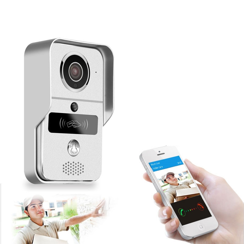 New Home Smart Wireless SD Card Video Recording Video Door Phone+RFID Keyfobs Wifi IP Door Bell POE Camera For ONVIF Connect NVR