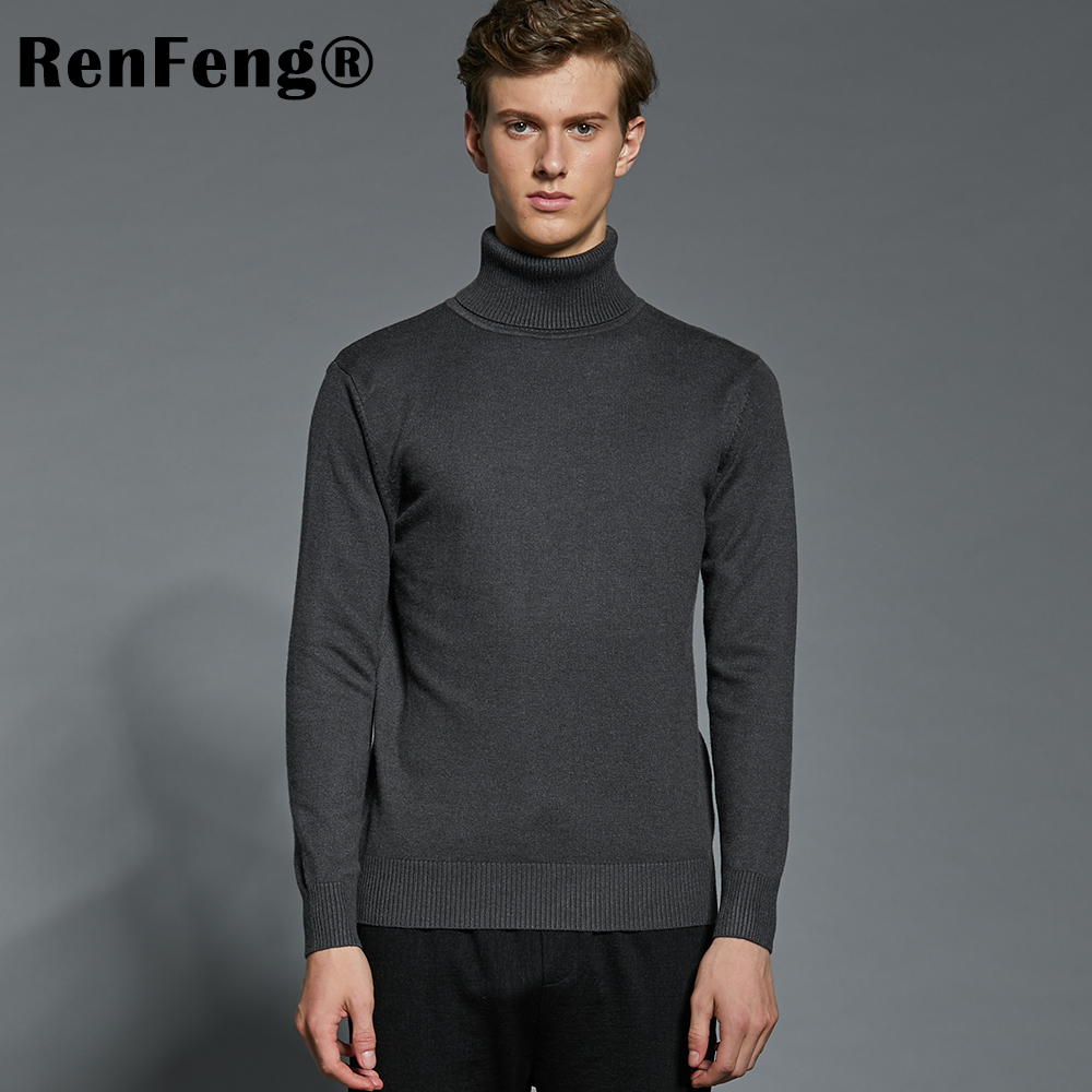 Winter Thick Warm Cashmere Sweater Men Turtleneck Mens Sweaters Plus Size Pullover Man Classic Wool Knitwear Thermal Pull Homme (2)