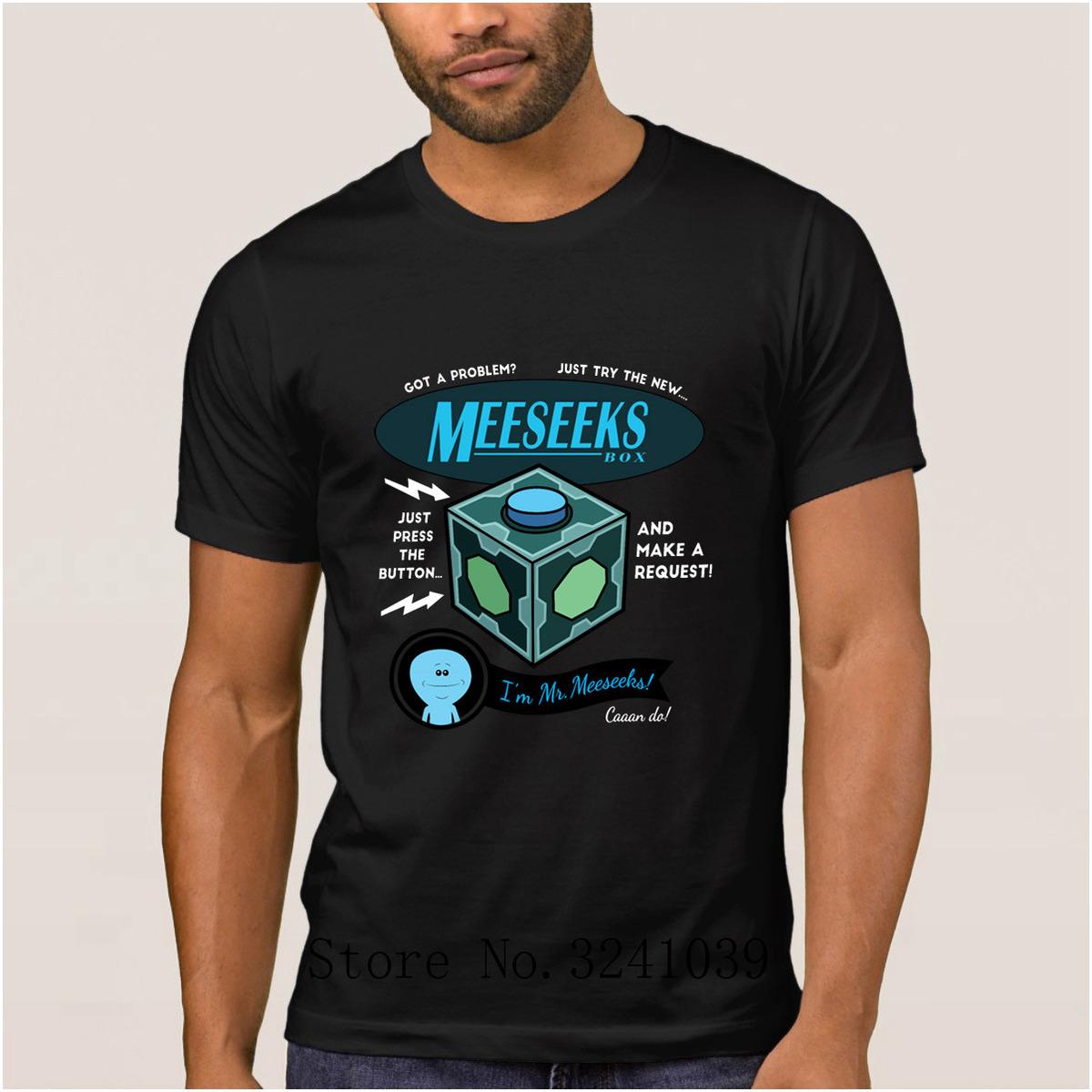 La Maxpa Character Humor Meeseeks Box T Shirt Sommer Günstige Pickle Rick Soft T-Shirt Mann Familie regelmäßige Tshirt für Männer