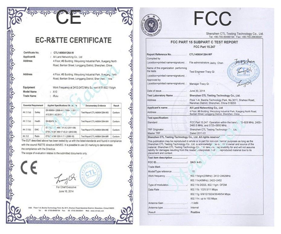 CE,FCC Certificates 1