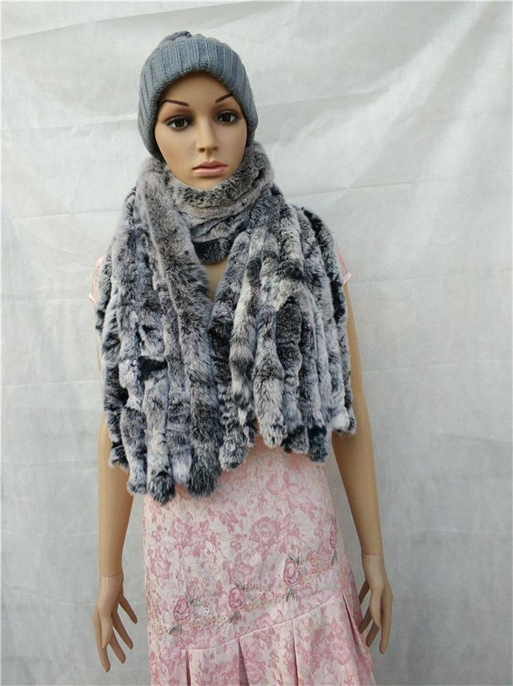 knitted rex rabbit fur scarf for women winter (19)