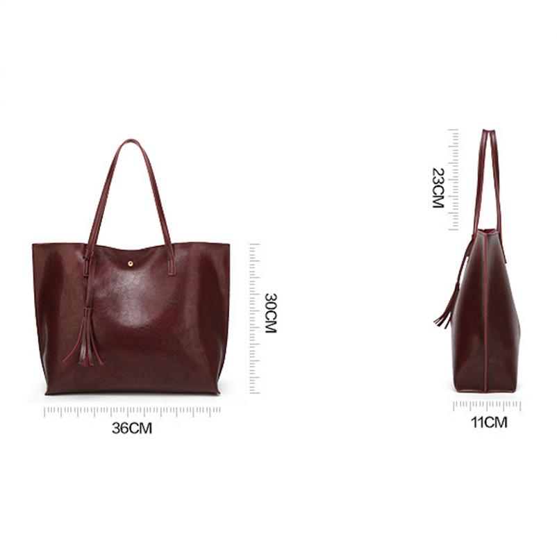 Nevenka Leather Handbag Women Casual Totes Female Shopper Ladies Shopping Bags Large Capacity Bags Vintage Bag for Women 201822