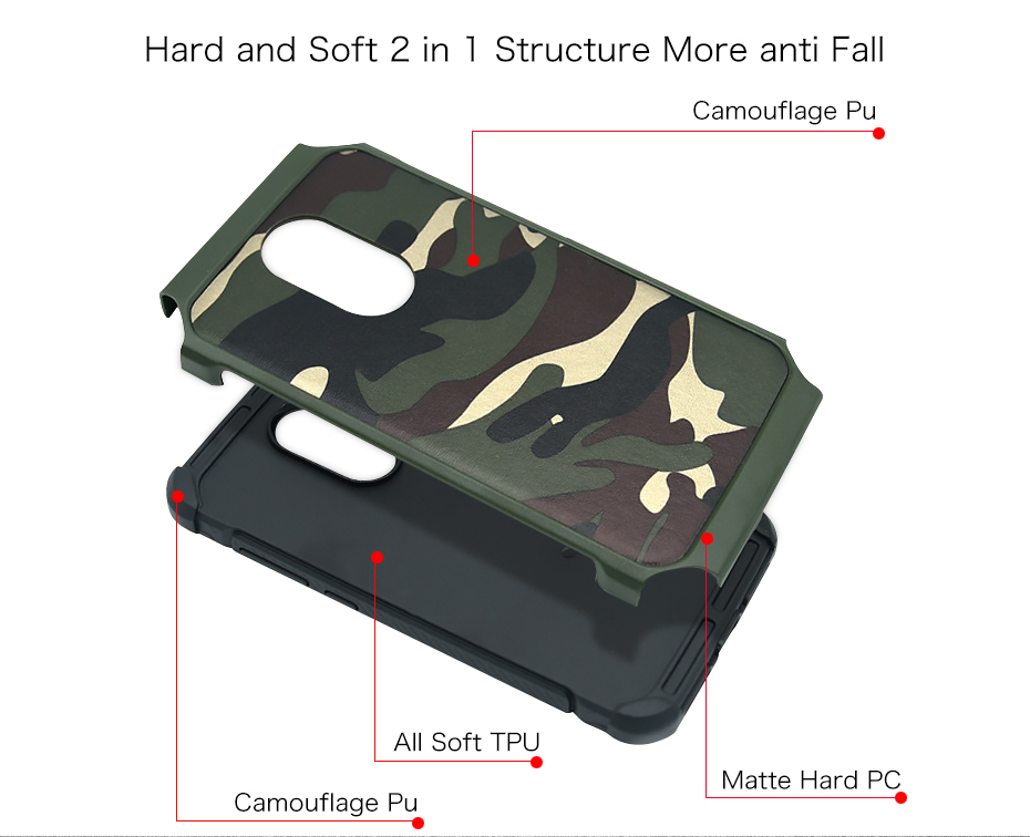 Millet 6 mobile phone shell red rice note43 protective sleeve 5 creative camouflage all inclusive anti fall soft silicone Combo (3)