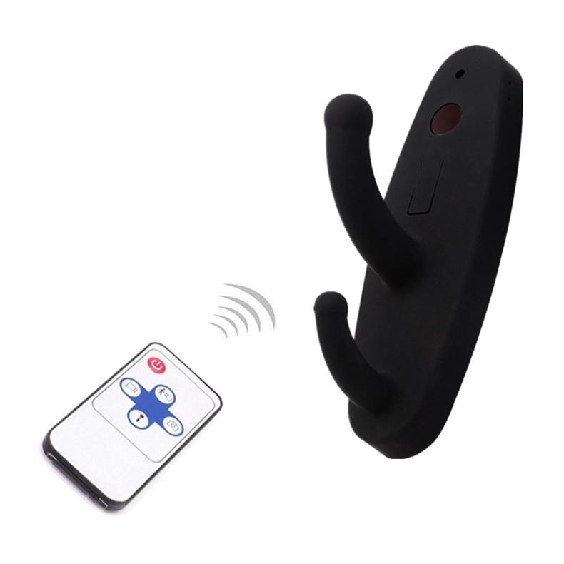 Black Clothes Hook Camera HD 720P Clothes Hanger Mini Camera with Motion Detection Remote Control Mini Security DVR Nanny Cam
