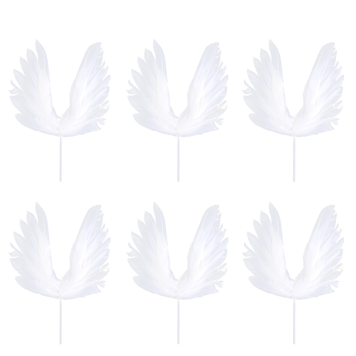 / Pack Cake Picks Birthday Wedding Cake Decoration Swan Feather Cake Cupcake Toppers Party Favors White