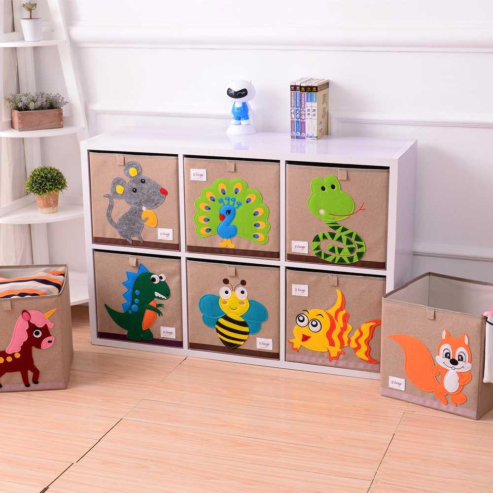 Sgabello contenitore Cartoon,Grande capacit/à Animale del fumetto Sgabello di stoccaggio Pu/ò sedere Scatola per giocattoli per bambini