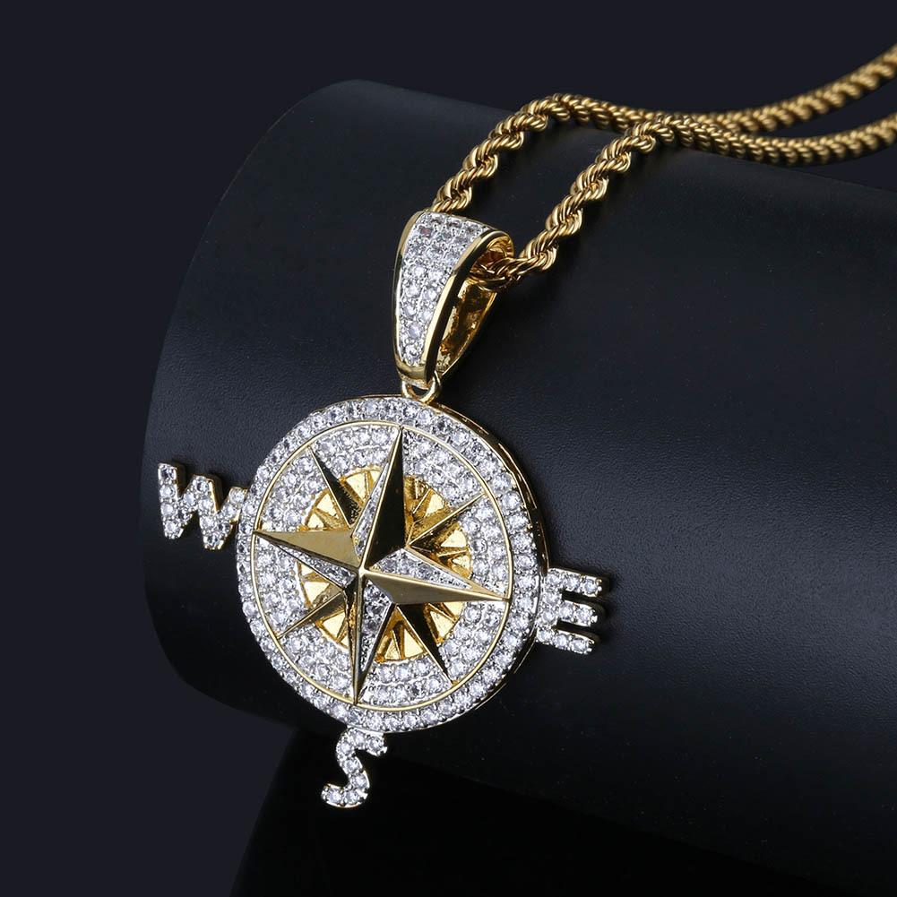 Llavero de br/újula br/újula de rosa de viento llavero especial accesorios de llavero llavero de cristal redondo de plata, regalo especial